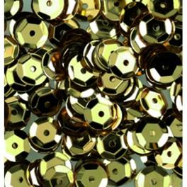 Pailletten rund gewölbt, gold