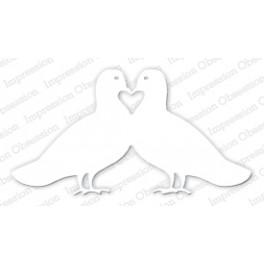 """Schneideschablone """"Doves in Love"""""""