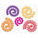 """Schneideschablone """"Spiral Flowers Large"""""""