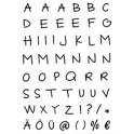 """Stempelset """"Großbuchstaben"""""""