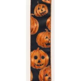 Band mit Kürbissen, glitzer, 60mm breit