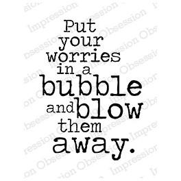 """Motivstempel """"Blow Your Worries Away"""""""
