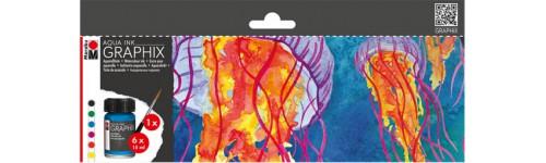 Aqua Ink GRAPHIX Einzelfarben und Set