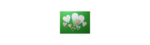 Holzkleinteile - Herzen/ Liebe