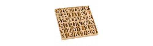 PappArt flach Zahlen/Buchstaben
