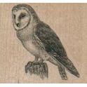 "Motivstempel ""Owl On Stump"""