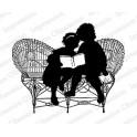 """Motivstempel """"Reading Silhouette"""""""