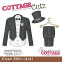 Schneideschablone CottageCutz Groom Attire (4x4)