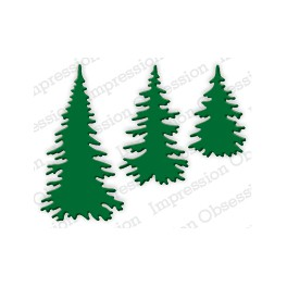 "Schneideschablone ""Evergreen Trees"""